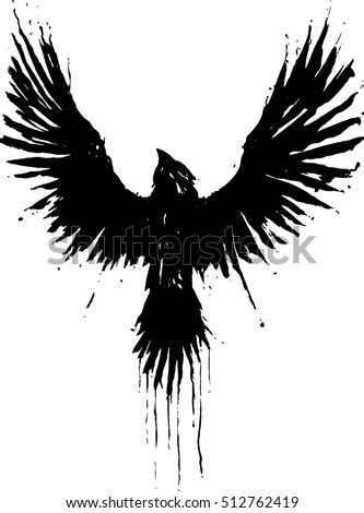 Grunge Crow Stock Vector (Royalty Free) 512762419