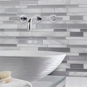 Stick On Kitchen Backsplash Tiles Smart Tiles 11 55 In W X 9 65 In H Peel And Stick Decorative Mosaic Wall Tile