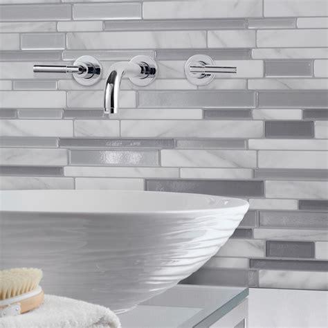 self adhesive kitchen backsplash tiles smart tiles 11 55 in w x 9 65 in h peel