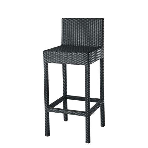 tabouret de bar rotin tresse tabouret chaise de bar miami maisons du monde