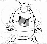 Pillbug Coloring Cartoon Running Clipart Cory Thoman Outlined Bug Pill Getdrawings sketch template
