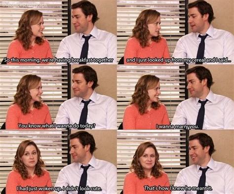 Adorable Jim And Pam Moment Office Memes Office Quotes