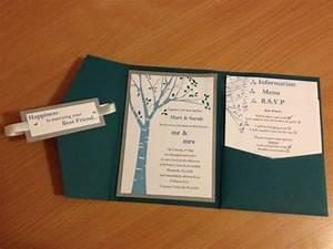 The 25 best tree wedding invitations ideas on pinterest for Pocket wedding invitations cricut