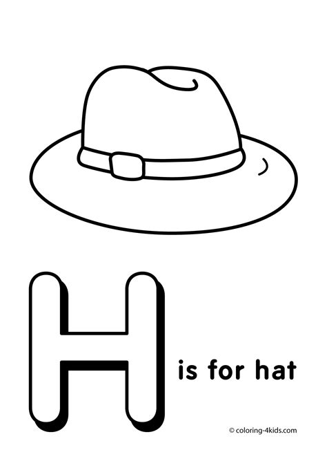 color h letter h coloring pages to and print for free
