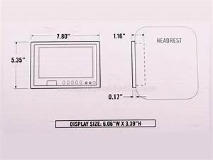 Boss Audio Bv7hir 7 Inch Universal Headrest Widescreen Lcd
