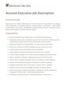 account executive description for resume account executive description