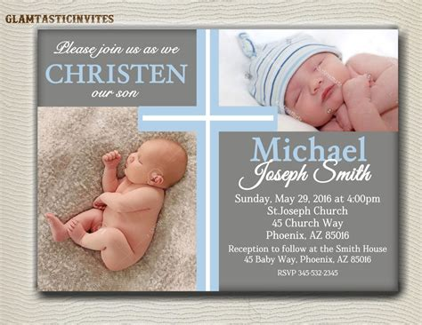 Boy Baptism Invitations  Boy Baptism Invitations