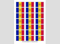 Andorra Colouring Flag