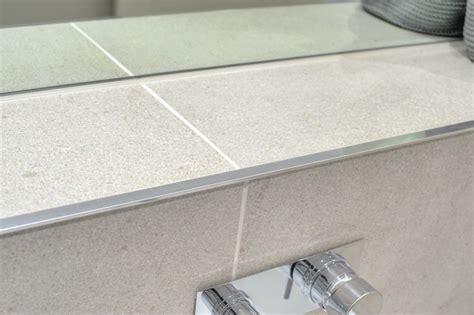 bathroom escape grey tile edge trim contemporary