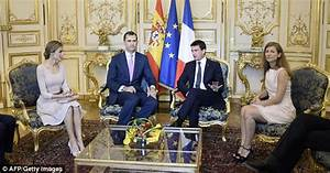 Queen Letizia And King Felipe Of Spain Meet French
