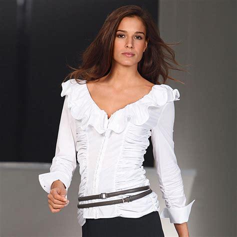 ruffled white blouse buy diego reiga ruffled blouses