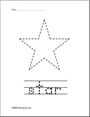 trace  color shape star abcteach