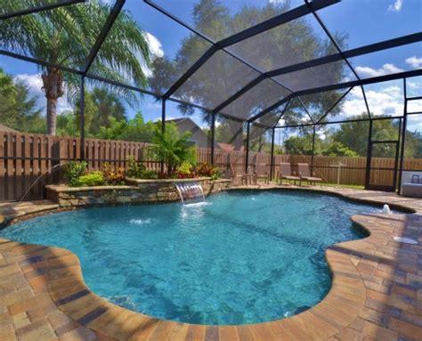 tropical pools  pavers  swimming pools