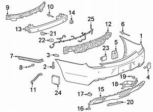 Cadillac Xts Parking Aid System Wiring Harness  2018-19  W  O Side Object Sen
