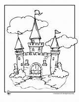 Castle Coloring Cinderella Pages Disney Drawing Printable Princess Castles Colouring Cartoon Simple Draw Walt Barrel Racing Fairy Activities Cartoons Tale sketch template