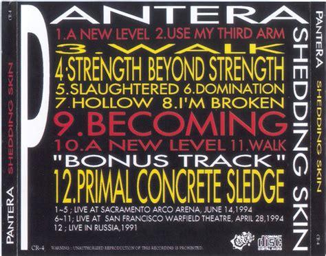 Shedding Skin Pantera Live by Pantera 1994 Xx Xx Shedding Skin California