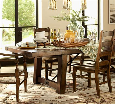 pottery barn tables the design our benchwright dining table