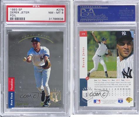 1993 Deck Derek Jeter by 1993 Deck Sp 279 Derek Jeter Psa 8 New York Yankees