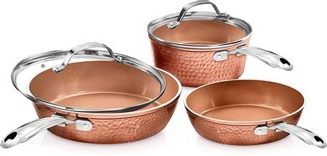 gotham steel premium hammered cookware  piece ceramic cookware pots  pan set maxmartcouk