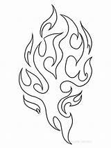 Fire Coloring Pages Nature Print sketch template