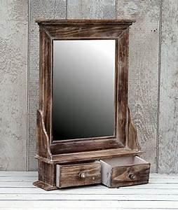 Spiegelschrank Shabby Chic : amadeco bezaubernder wandschrank h ngeschrank k chenschrank spiegelschrank badspiegel spiegel ~ Markanthonyermac.com Haus und Dekorationen