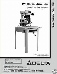Delta Radial Arm Saw Instruction Manual  33