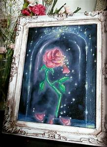 Etsy Size Chart Beauty And The Beast Enchanted Rose Oil Painting By