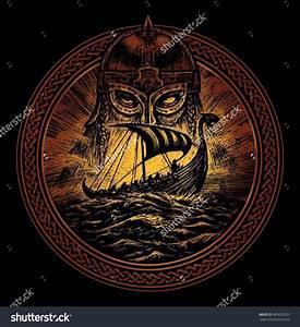Symbole Mythologie Nordique : god odin storm sea and drakkar illustration of a circle viking emblem viking ship norse god ~ Melissatoandfro.com Idées de Décoration