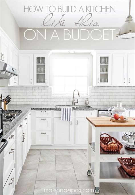 white cabinets gray floor budgeting tips for a kitchen renovation blogger home 278 | b421bb5561b79f41821bfafe4c62eb84
