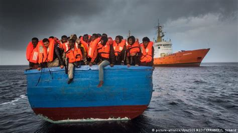Overcrowded Refugee Boat by Refugee Rescue Ngos Reject Human Trafficking Charges