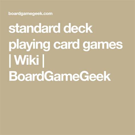 standard deck playing card games wiki boardgamegeek