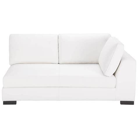 canape modulable cuir canapé convertible modulable droit en cuir blanc terence