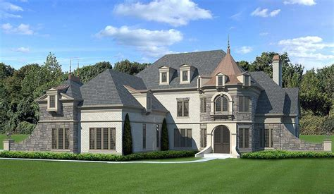 Castle-like Luxury House Plan