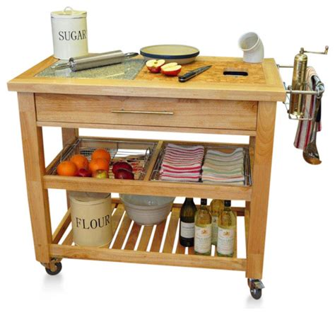 kitchen cart rolling food prep pro chef prep station in espresso contemporary kitchen