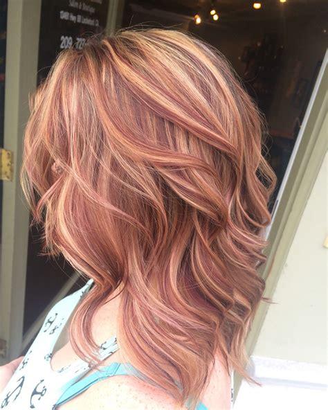 Blonde Hair Red Hair Medium Hair Hair And Makeup
