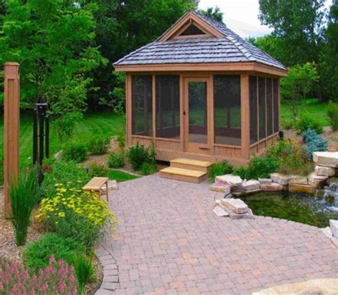 Gazebo Roofs Square Screened Gazebo With Roof Pergola Gazebos Roofs