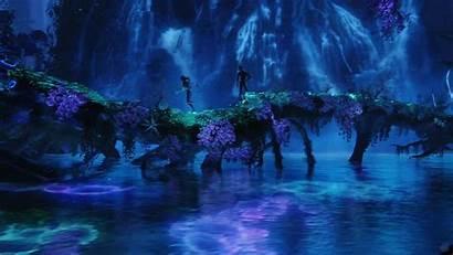 Avatar Night Lagoon Pandora Waterfall Desktop Wallpapers