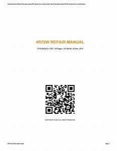 4r70w Repair Manual By Garyjones3277