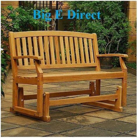 100 teak wood porch glider swing bench seating garden