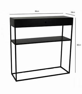 Console D Entrée Design : console d 39 entr e en m tal noir 1 tiroir zen longueur 80cm ~ Teatrodelosmanantiales.com Idées de Décoration