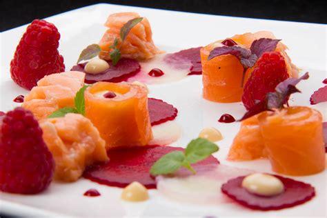 Cours De Cuisine Lenotre - saumon en deux façons carpaccio de betteraves arôme