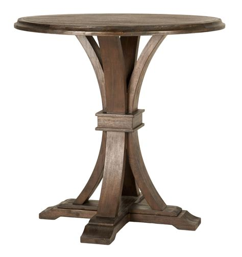 round bar height table devon rustic java round bar height dining table from