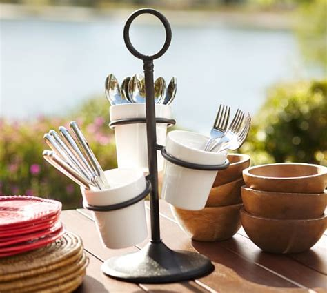 pottery barn kitchen accessories utensil caddy pottery barn 7566