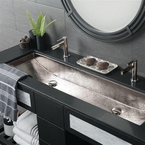 concrete trough sink trough 48 basin rectangular bathroom sink