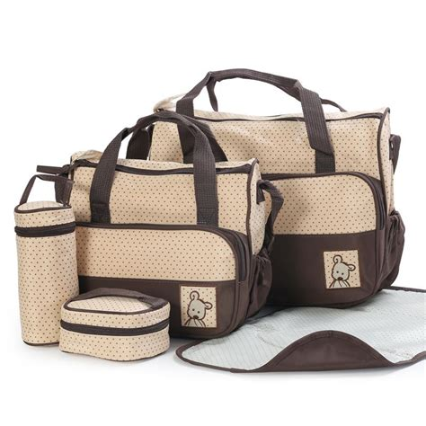 designer baby bag 5 pcs set nappy bags bags designer maternity mummy