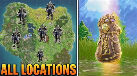 thanos spawn locations  fortnite battle royale
