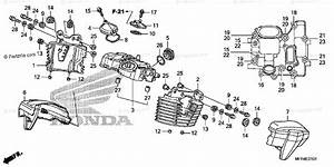 Honda Motorcycle 2010 Oem Parts Diagram For Rear Cylinder