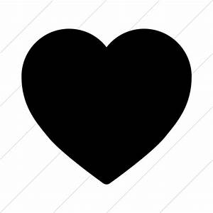 Foundation 3 Heart Icon » Style: Simple Black - ClipArt ...