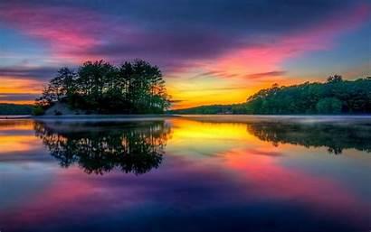 Island Colorful Nature Landscape Sunrise Water Massachusetts