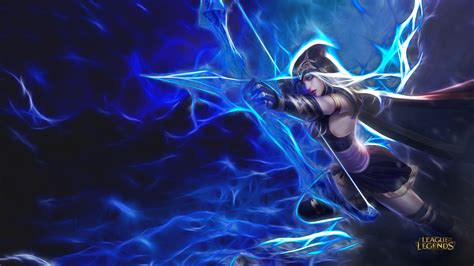 Ashe-league Of Legends-archer-artistic-hd Wallpapers For Mobile Phones-tablet And Laptop